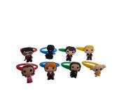 AVIRGO 8 pcs Colourful Releasable Ponytail Holder Elastic Rubber Stretchable No-slip Hair Tie Set # 654 - 7