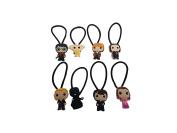 AVIRGO 8 pcs Elastic Hair Bands Hairband Ponytail Set # 654 - 5