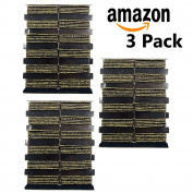 Black & Gold Hair Elastics 3 Packages 144 Elastics Total Girls Kids Women