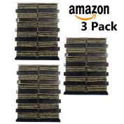 Black & Gold Hair Elastics 3 Packages 144 Elastics Total Girls Kids Women