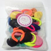 Cute Hair Ties J-MEE 3D Bows No Damage Hair Accessories Rubber Bands Hair Ribbons for Girls