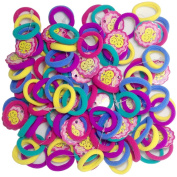Hair Bands Small G-MEE 3cm 100 CT Cute Colourful Seamless Hair Accessories Hair Ties for Toddler Girl