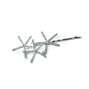 Jane Tran Starburst Bobby Pin White