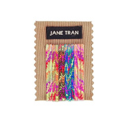 Jane Tran Small Neon Leaves Print Bobby Pin Set