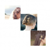 Rosenice Wedding Hair Pins Olive Leaf Hair Clip Gold Bobby Pin,2pcs