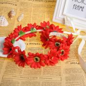Merroyal Flower Head Crown Wreath Headband Fascinator Wedding Garland Festival Beach