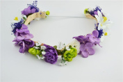 Merroyal Flower Headband Crown Garland Halo for Wedding Festivals