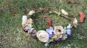 Merroyal Wedding flower crown Beach bridesmaid berries halo flower wreath Bridal flower wedding festivals accessory