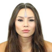 Crystal Tikka Chain Headpiece Made with Crystals