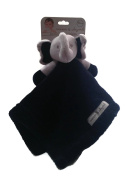 Blankets and Beyond Navy Blue and Grey Elephant Security Blanket