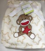 Baby Starters Sock Monkey with Stars Fleece Blanket