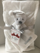 Blankets & Beyond 2 pcs Gift set with fleece white blanket and a Penguin Nunu