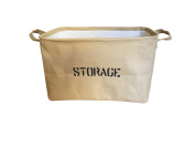 Proper Fulfilment Canvas Storage Basket with Handles, Medium