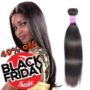 8a Virgin Brazilian Hair Straight Bundles 100% Unprocessed Human Hair 1 Piece 50cm 100g Natural Black Colour Can Be Dye