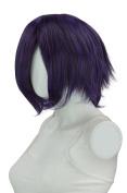 EpicCosplay Aphrodite Purple Black Fusion Long Bang Layered Short Wig