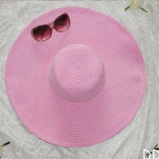 Keyzone Charming 1X Women Multicolor Folding Summer Floppy Sun Hat Straw Beach Wide Large Brim Cap Pink Beautiful