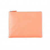 Medium Pouch - Full Grain Leather - Coral Blush