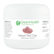 French Pink Clay Powder, 90ml - 100% Pure & Natural by GreenHealth