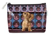 Catseye Small Cosmetic Bag - Music Pup