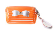 Micom Candy Colour Clear PVC Waterproof Bow Strip Travel Cosmetic Bag Organiser Makeup Bag for Women,girls