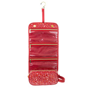 Adrienne Vittadini Women's Hanging Cosmetic Organiser Red Leopard Print