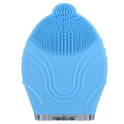 KINGDOMCARES Silicone Waterproof Facial Cleansing Brush Blue