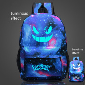 Pokemon Go Luminous Backpack Galaxy Rucksack Gengar Travel Shoulder School Bags