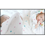 """& SALES """" ECO Bamboo Baby Swaddling Cover - PurpleBlue Star"""