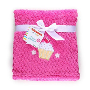 Scholastic for Baby Pink Plush Blanket with Cupcake and Flowers