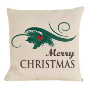 Lucoo 2017 New soft comfortable New Christmas Cotton Linen Pillow Case Sofa Cushion Cover Home Decor