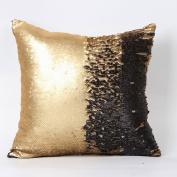 Pillow Case,Dirance(TM) Home Decor Double Colour Glitter Sequins Throw Pillow Case Cafe Home Decor Cushion Covers (A)