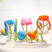 Sprig Countertop Drying Rack, Multipurpose and demountable for Baby feeding Bottle Nipple, Cartoon Wing Design, Lovely Green