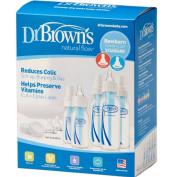 Set Dr. Brown 5 Bottles 7 Nipples BPA Phtalate & Lead Free Internal Vent's 3 New!!!