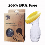 A-forest Food Grade Silicone 100% BPA Free Silicon Breast Pump Anti-backflow Breastfeedin