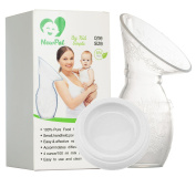 NewPal Silicone Breast Pump with Lid 100% Food Grade Silicone, Comparable to Haakaa