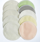 Reusable Nursing Pads 10 Pack | Organic Bamboo | Laundry & Travel Bag | Breastfeeding & Baby Sleeping Guide | Softest Breast Pads by BabyVoice