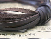 Genuine Cowhide Flat Leather Cord Cording Strips For Crafts, Jewellery Making & Leatherwork