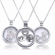 EMOSAN 2016 New Autumn Medium Floating Necklace Pendants Charm Necklaces for Women Original 925 Sterling Silver Jewellery