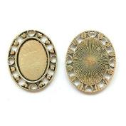 20pcs/lot 18X25mm Necklace Pendant Setting Antique Bronze Silver Glass Cabochon