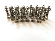 Set of Twenty (20) Pewter Oil Rig Charms
