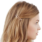 QTMY 4 PCS Metal Pin Shape Hairpin Hair Clips Hair Accessories