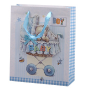 "2pcs x Premium Large Pop-Up Baby Gift Bags 32x26cm (or 12.6""x10.23"") Guaranteed GB5-2"