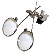 Double Glass Loupe With Clip Attaches To Eyeglass Frames-5X And 10X Power