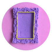 LYNCH Picture Frame Shaped Silicone Mould Fondant Cake Decorating Soap Candle Moulds,Pink