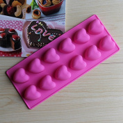 Silicone Cake Mould Silicone Cake Mould 12 Even Love Chocolate Ice Lattice Ice Candle Moulds^.