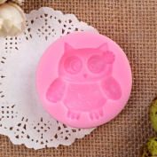 3D Owl Silicone Cake Fondant Mould, Cake Decoration Tools, Soap, Candle Moulds^.