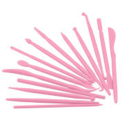 Bonayuanda 14 of Set Mini Plastic Crafts Clay Modelling Tool for Shaping and Sculpting
