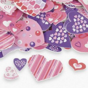 100 ~ Fabulous Foam Valentine Heart Shape Stickers ~ New