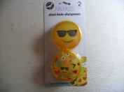 2 Pack FUN FACES Dual Hole Pencil Sharpener