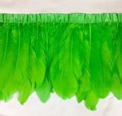 Duck Duck Goose Feather Fringe (Selling Per Yard) Kelly Green 13cm - 18cm Long